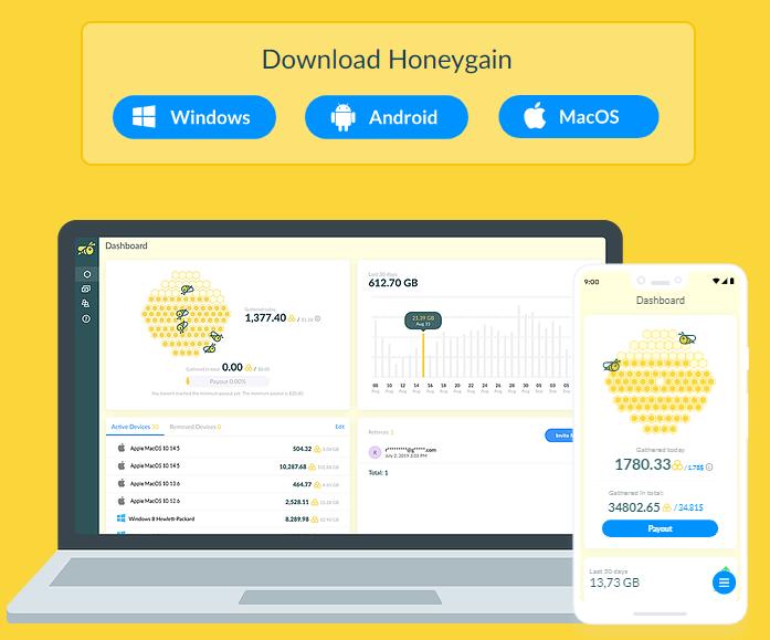 HoneyGain Platforms